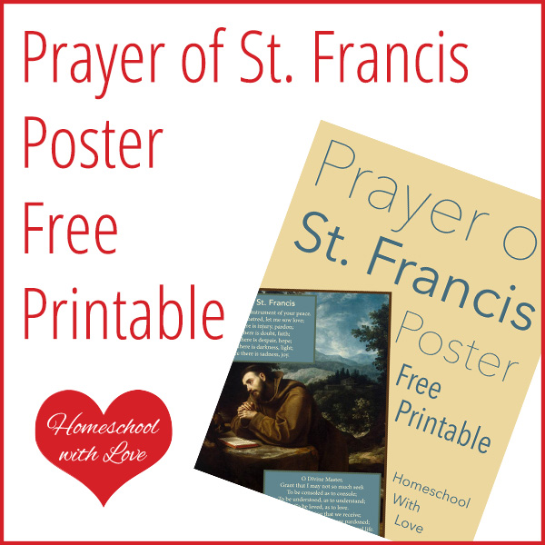 graphic regarding St Francis Prayer Printable identify Prayer of St. Francis Poster Free of charge Printable