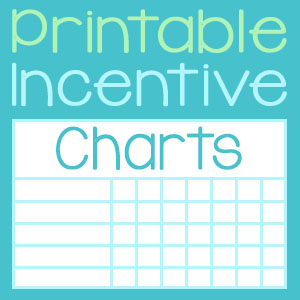 Printable Incentive Charts for Your Homeschool