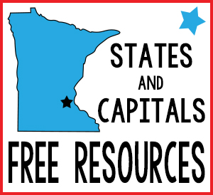 States and Capitals Free Resources