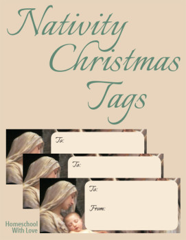 Christmas Nativity Tags 600h