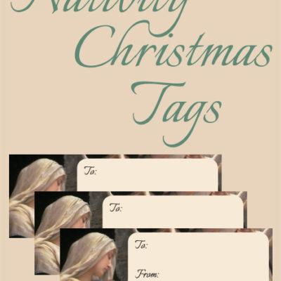 Free Printable Nativity Christmas Tags