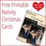 Free Printable Nativity Christmas Cards
