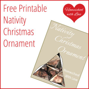 Free Printable Nativity Christmas Ornament