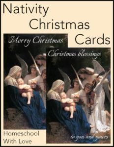 Get Free Printable Nativity Christmas Cards
