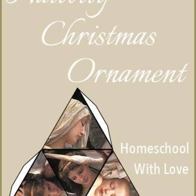 Print This Free Nativity Christmas Ornament