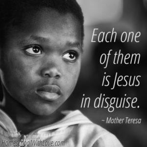 Mother Teresa Quote Jesus in Disguise