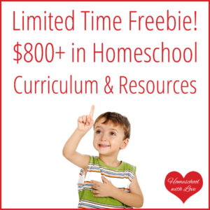 Limited Time Freebie: $800+ in Homeschool Curriculum & Resources