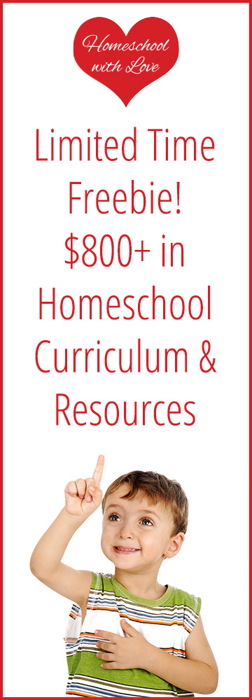 Limited Time Freebie $800+ in homeschool curriculum and resources
